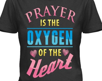 Download Free Prayer is the Oxygen of the Heart, Christian, Faith, Digital Download, Mockup Included! PNG File DTG, POD Printing, Not a shirt, Pod 17 PSD Template