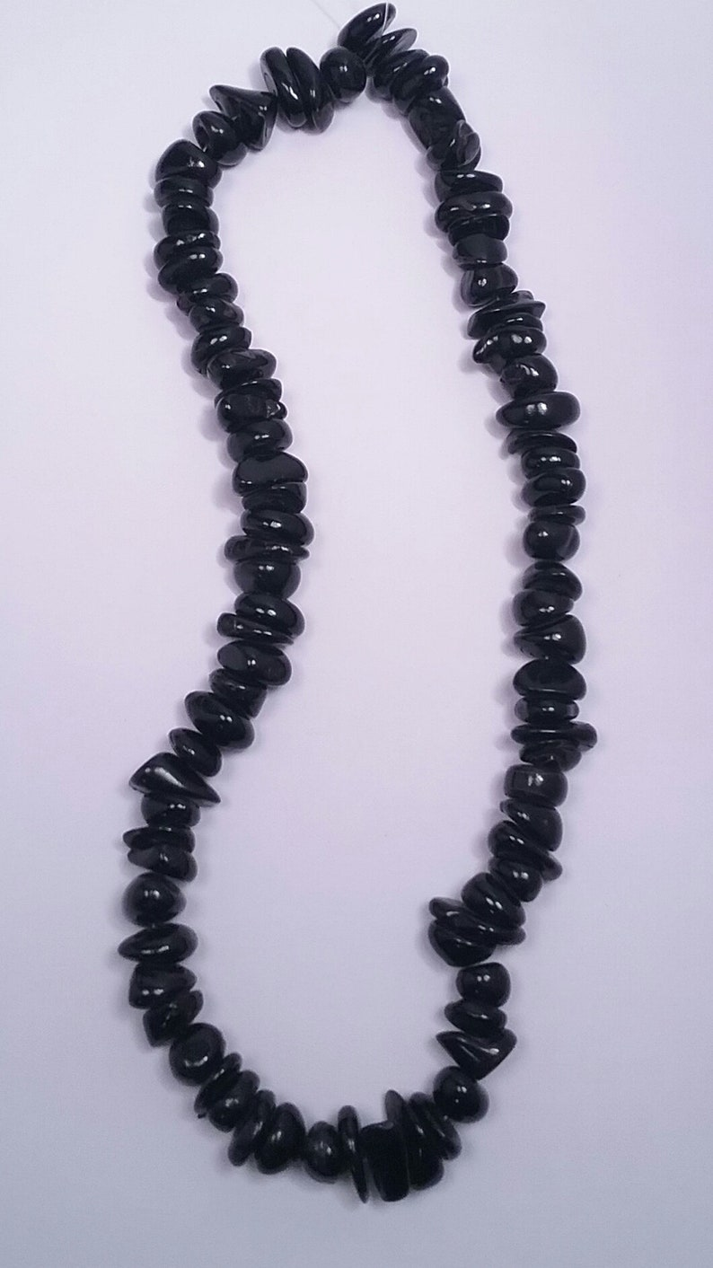 Chunks of black coral beads #4