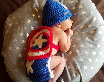 Captain America Newborn Costume
