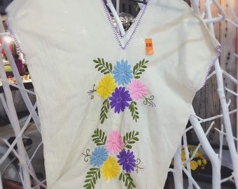 Cottton top hand embroidery