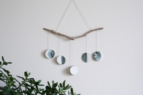 Wall Hanging in Porcelain Ceramic Wall Hanging of My Little Munchkin Moon