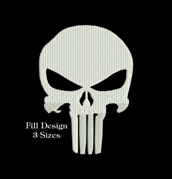 Punisher Skull Embroidery Design Machine Embroidery Punisher Etsy