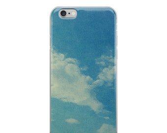 Clouds Iphone Case | Blue Sky | Mixed Media Phone Case | Nature Inspired | Iphone 6 | Iphone 7 | Iphone 8 | Iphone Plus | Iphone X
