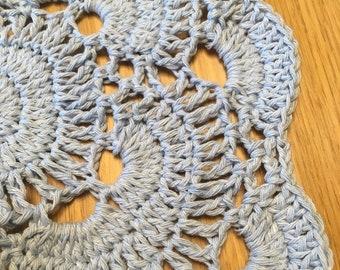 Light Blue Crochet Doily