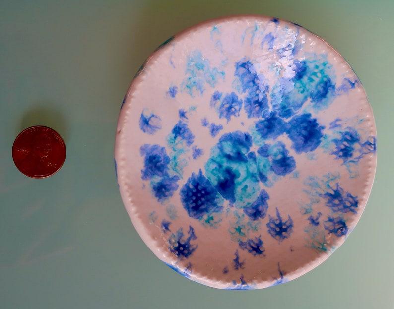 Blue Ring Dish Blue Jewelry Holder Studio Handmade. Ceramic Blue Condiment Dish Tea Bag Holder Gift Blue Soap Dish Blue Trinket Dish