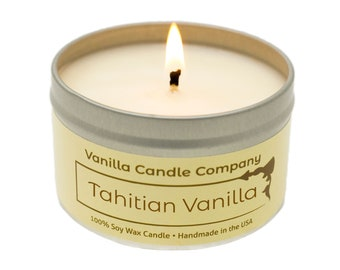 Tahitian Sea Salt Scented Soy Luxury 16 oz Hand Painted Candle