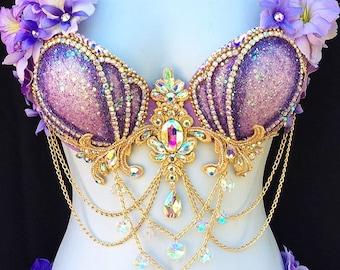 29842b21879aa Lavender   Purple crystal mermaid bra