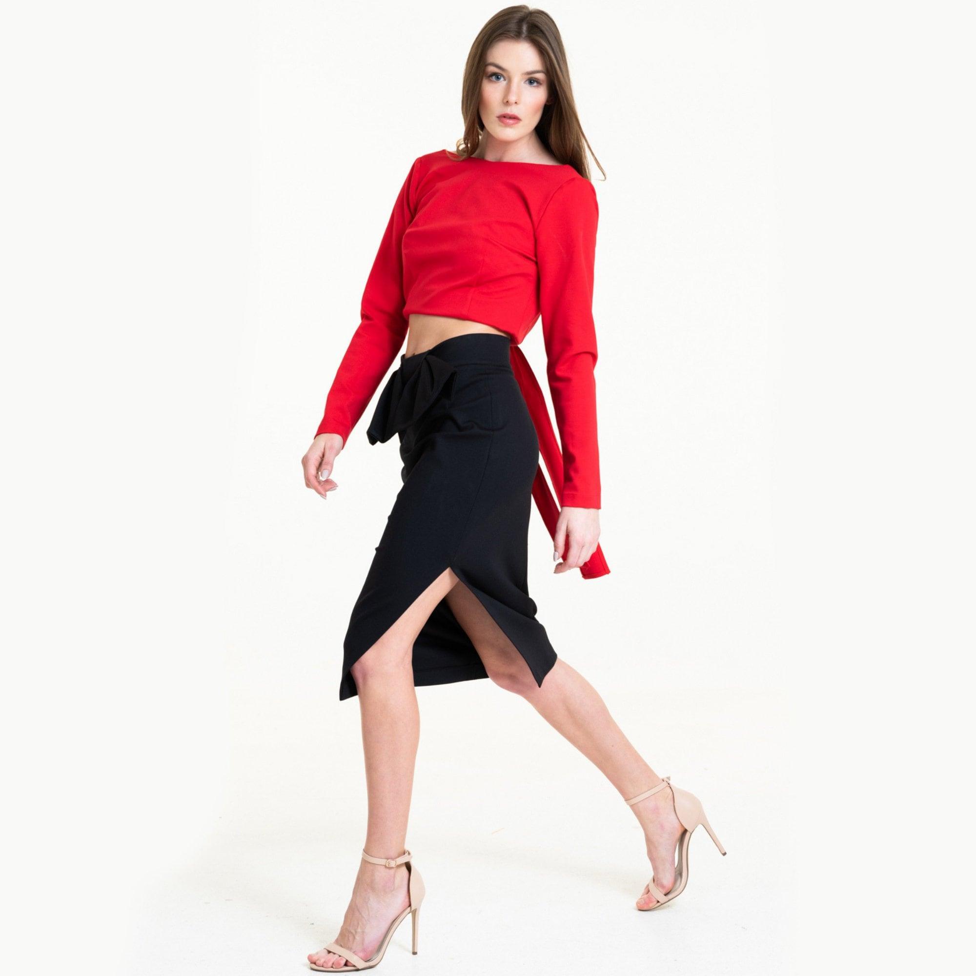 945d21614 Elegant Pencil Skirt Classic Black Skirt Stylish Work Skirt | Etsy