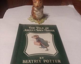Beatrix Potter's figurine 'Timmy Willie' plus nursery rhyme book