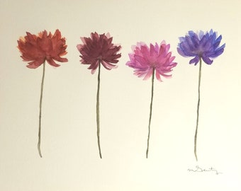 Fresh Flowers Original Watercolor Painting