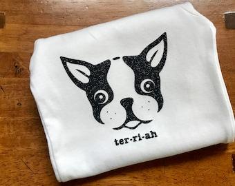 Boston Terrier onsie, tshirt