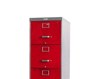 4 Drawer Steel Retro Filing Cabinet