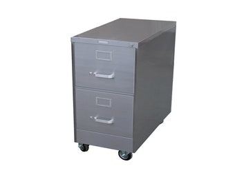 2 Drawer Steel Retro Filing Cabinet
