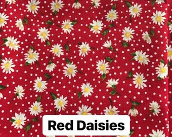 Red Daisies Dog Bandana