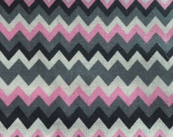 Chevron Grey & Pink Dog Bandana