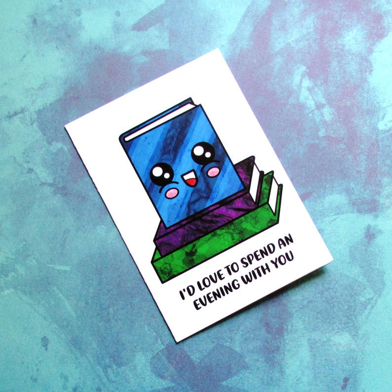 Blushing Book Card  Funny Adult Card for Reader  Gift for image 0