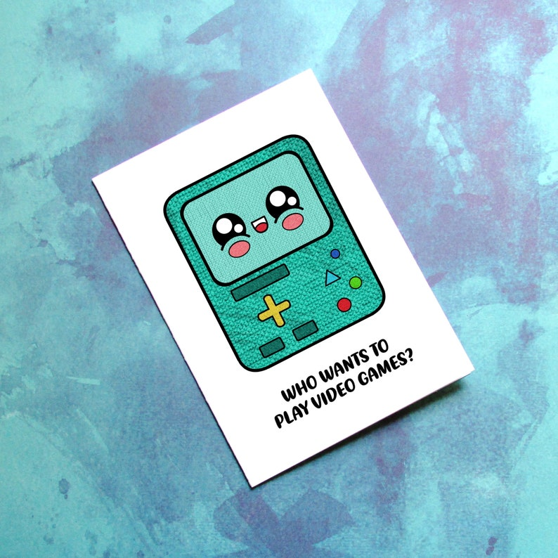 BMO Card  Adventure Time Anniversary  Cute BMO Birthday Card image 0