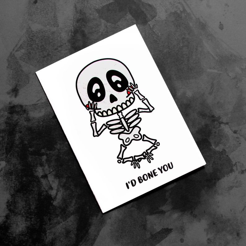 Sultry Skeleton  Quirky Valentine for an Adult image 0