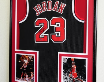 7ea7b3687 XL Double Matted Custom Framed Jersey Display Case Frame w 98% UV  Protection Custom Matting Cutout Fully Customizable