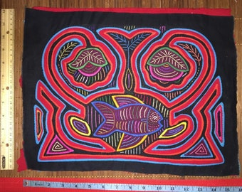 1040 1041 unframed mola panel unique original imported from Panama original authentic