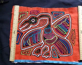 1034-5 Panel mola unframed original handmade from Panama  unframed panel