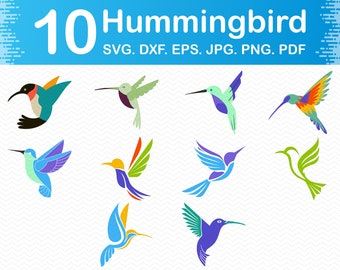 Hummingbird svg, Svg hummingbird, Hummingbirds Svg, Bird svg files for cricut, Dxf files for laser, Silhouette designs, Png files clipart