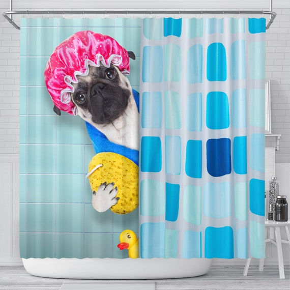 Dog Shower Curtain Funny Shower Curtain Shower Curtains Kids Shower Curtain Funny Bathroom Art Bathroom Accessories Dog Lover Gift