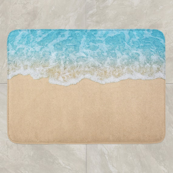 Surprising Beach Bath Mat Ocean Bath Mats Sea Bath Rug Bathroom Rug Bathroom Mat Shower Mat Beach Bathroom Accessories Nautical Bathroom Decor Home Remodeling Inspirations Cosmcuboardxyz