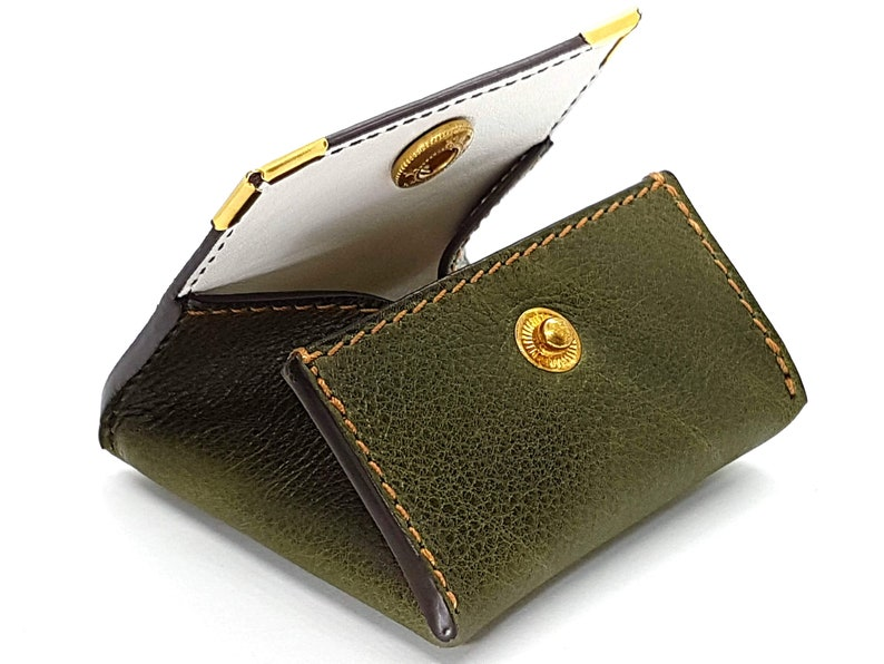 christmas gift ideas gifts made in France birthday black friday Hibiscus kosher kosher green leather wallet Christmas couples gift woman