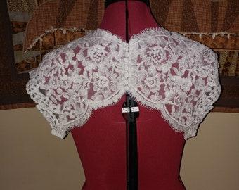 Bridal Ivory Lace Keyhole Back ready to sew on
