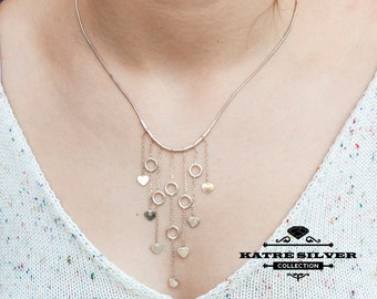 Boho Necklace • Ethnic Necklace • Bohemian necklace • Tribal Necklace • Statement Necklaces • Gypsy Necklace • Fringe Necklace •Katre Silver