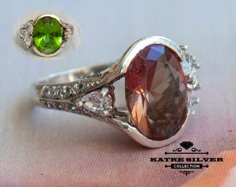 Color Change Ring, Turkish Ring, Color Change Jewelry, Woman Silver Ring, Statement Ring, 925 Silver Ring, Silver Stone Ring, Women Ring