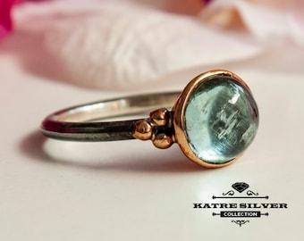 Sky Blue Topaz Ring, Blue Topaz, Topaz Ring, Blue Topaz Jewelry, Anniversary Ring, Topaz Jewelry, Blue Gemstone Ring, Dainty Ring, Gift Ring