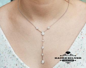 Teardrop Tassel Necklace, Teardrop Necklace, Statement Necklace, Teardrop Pendant, Tassel Pendant, Long Necklace, Teardrop Jewelry, Tassel