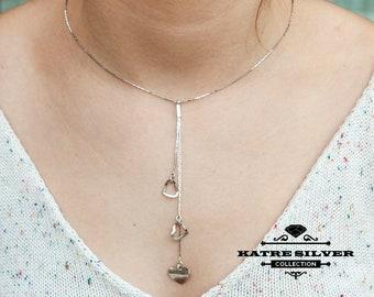 Heart Tassel Necklace, Long Tassel Necklace, Heart Necklace, Heart Pendant, Long Necklace, Bohemian Necklace, Tassel Jewelry, Tassel