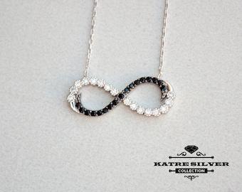 Eternity Necklace, Infinity Symbol, Eternity Infinity, Infinity Pendant, Infinity Charm, Infinity Necklace, Infinity Jewelry,Silver Infinity