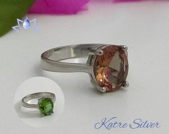 Oval Sultanite Ring | Promise Ring | Sultanite | Diaspore Stone | Diaspore Jewelry | Gift | Silver | Gift for Her |Gift Idea by Katre Silver