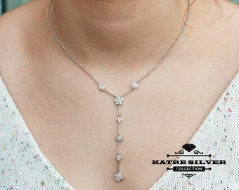 Flower Tassel Necklace, Long Tassel Necklace, Tassel Necklace, Flower Necklace, Long Necklace, Statement Necklace, Flower Pendant, Necklace
