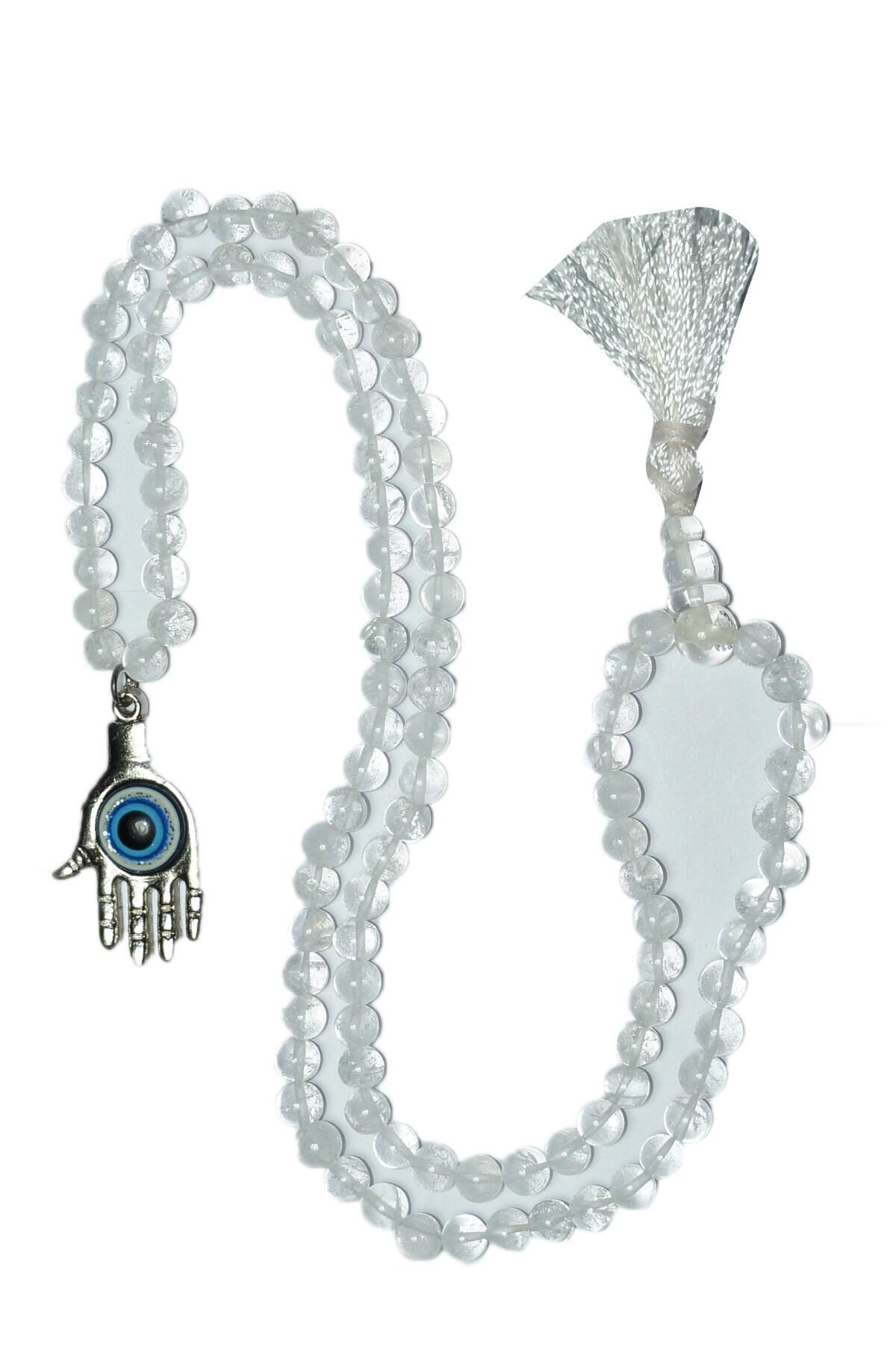 Dark red hamsa bead Healing hand pendant oval Yoga bead Dark blue handmade lampwork focal SRA