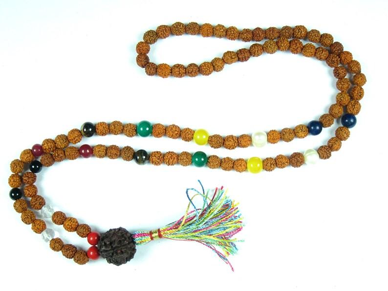 Meditation Yoga Spiritual Mala Beads Navgraha Nine Stone Rudraksha Yoga  Prayer Mala Necklace
