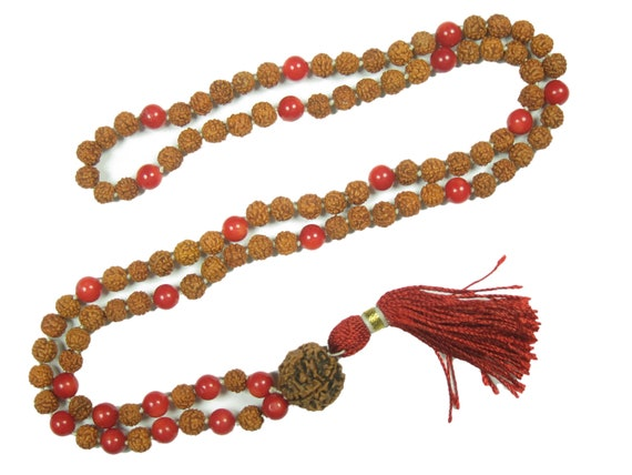 Remove Obstacles Yoga Prayer Beads Meditation Japamala Rudraksha Nine Planet Healing Beaded Necklace