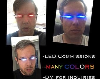 LED glowing eyes