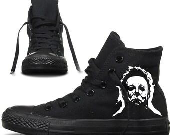 michael myers converse custom printed high tops uk personalised horror halloween