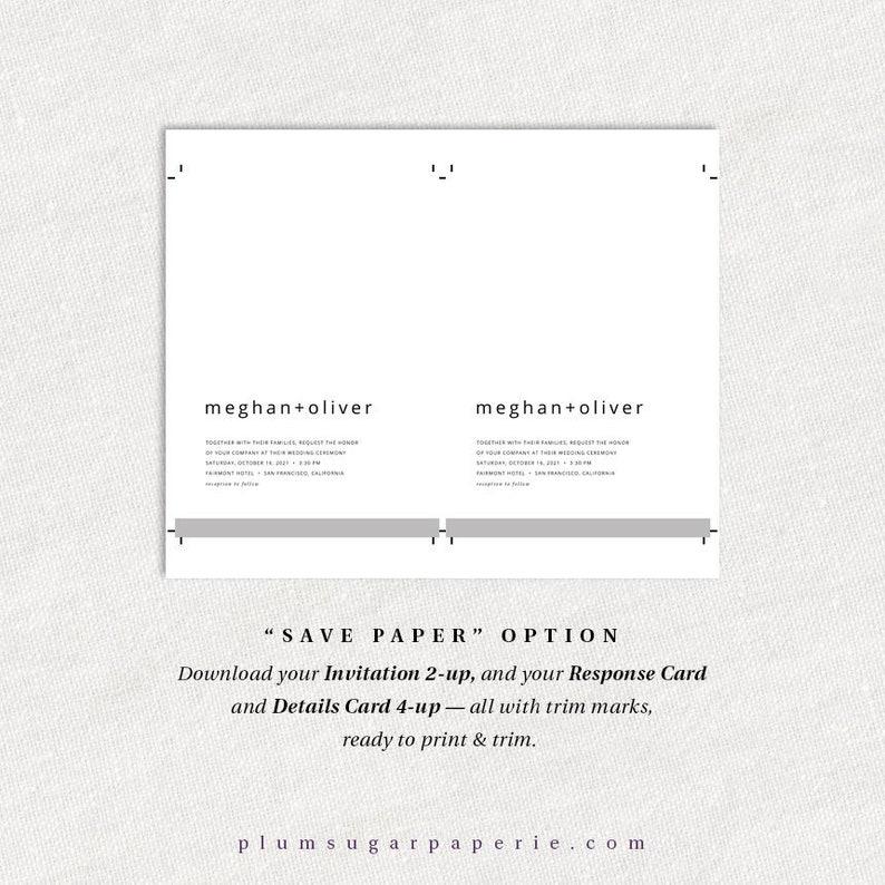100/% Editable PS314-01 Instant Download Printable Simple Wedding Invitation Template Modern Minimalist Wedding Invitations