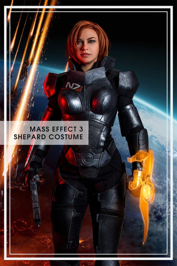 Mass Effect 3 Fem Shepard Inspired Cosplay Costume Custom Made Handmade