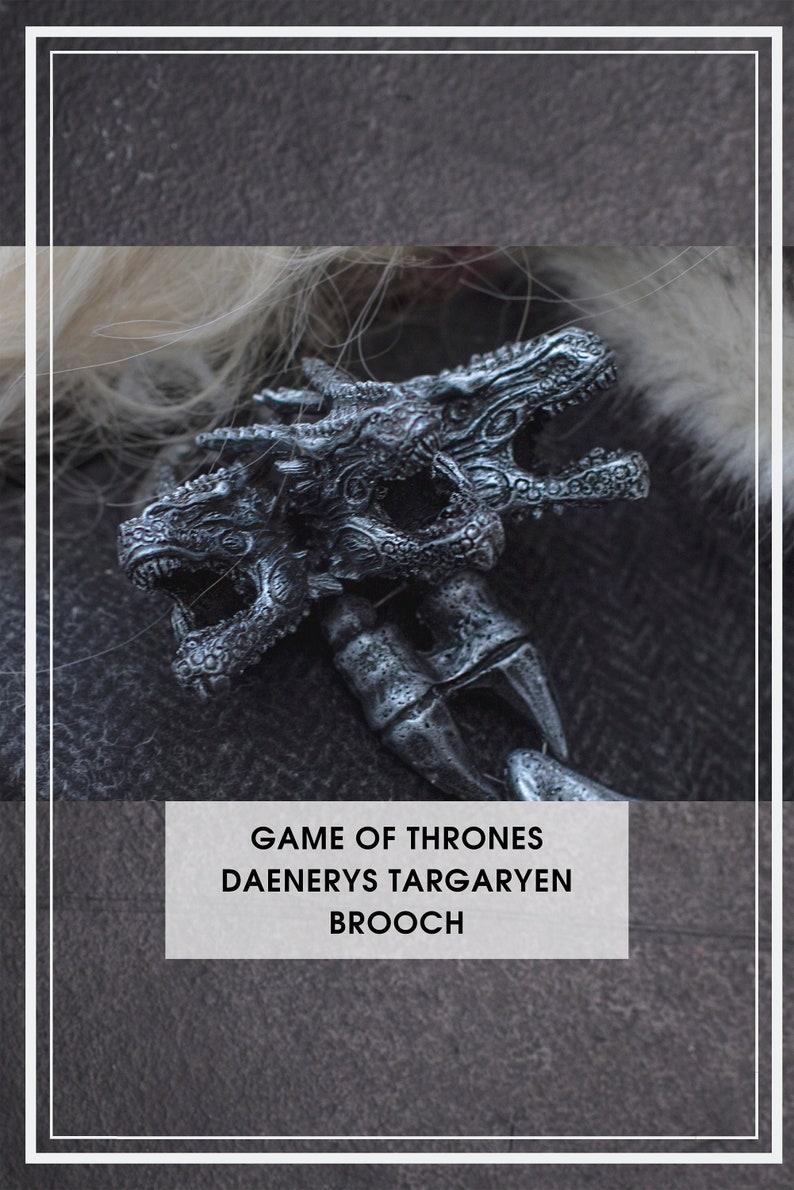 Daenerys Targaryen Brooch Game of Thrones Inspired Handmade Cosplay Accessories Prop