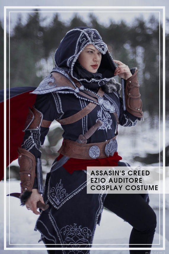 Assassin S Creed Ezio Auditore Cosplay Costume And Props