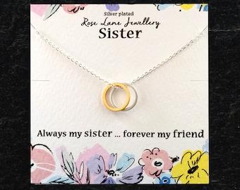 e985fa5860 Sister Necklace,Sister pendant, Sister and Friend, Sister necklace, sister  and friends, beautiful gift, necklace, pendant,Sister gift,