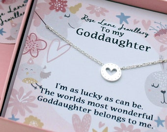 goddaughter pendant necklacegod daughter necklace beautiful gift heart pendant necklacejewllery for god daughtergod daughter gift
