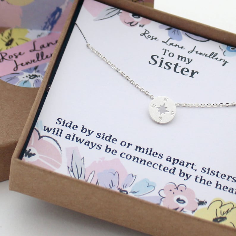 14db5a8507 Rose Lane 'To my Sister' silver plated charm necklace   Etsy